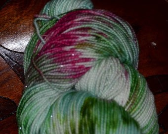 Sweet Succulents  Sparkle Sock Yarn 75/20/5 SW Merino, Nylon and Stellina 438yards/100 grams
