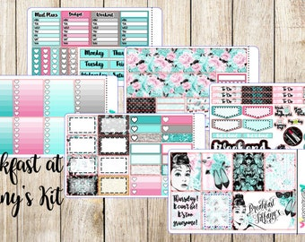 Breakfast at Tiffany's Weekly Kit - Planner Stickers for the ECLP, Happy Planner, and more!
