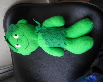 """Jolly Green Giant Plush Vintage Doll Lil Sprout 1970's 13"""" tall vgc cute"""