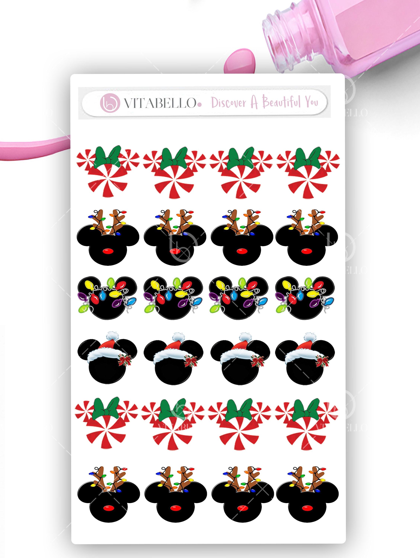 Disney Christmas Mickey Water Nail decal, Nail Design, Nails, Press ...