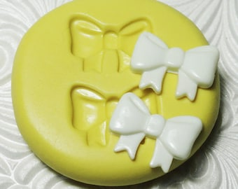 RIBBON BOWS Mold Flexible Silicone Rubber Push Mold for Resin Wax Fondant Clay Ice 7457