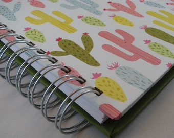 Quilter's Journal - Memory Book - Quilt Notebook - Quilt Journal - Quilt Notes - Quilt Story - Quilting Journal - Quilter's Gift -  Cactus