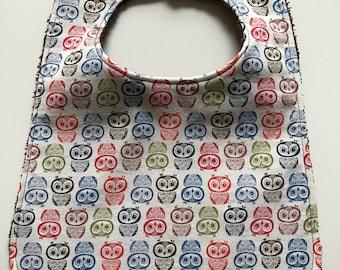 Baby Bib - Gender Neutral Baby Bib - Owl Bib - Toddler Bib - Baby Shower Gift