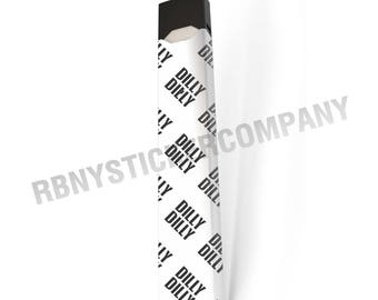 DILLY DILLY White & Black JUUL Skin Decal Wrap