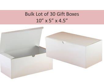 30 White Gift Boxes 30 Flute Gift Boxes Wine Glass Boxes Bridesmaid Glass Box Groomsmens Gift Box 10 x 5 White Boxes for Glassware