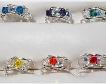 Swarovski Crystal Toe Rings