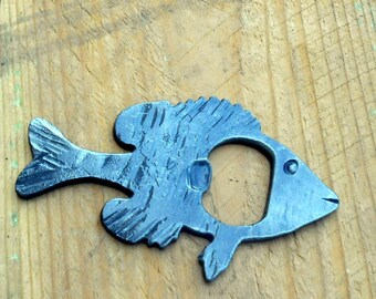Crappie bottle Opener fish Hand crafted by a blacksmith in the USA #112