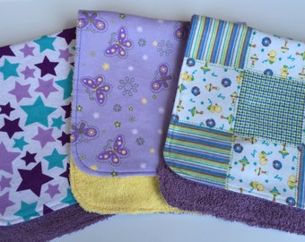 Ducks, Stars and Butterflies Burp Cloths