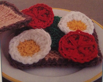 Tomato,Egg, Cheese And Lettuce Sandwich Knitting Pattern
