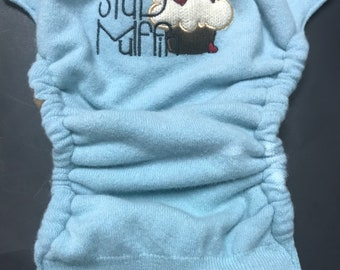 MamaBear BabyWear One Size Wool Diaper Cover Wrap - Stud Muffin