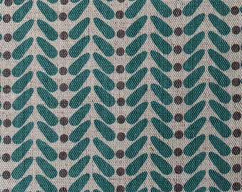 Scandi Wings - Fern Green - Linen Curtain Fabric - English Fabric - English Linen - Scandi - Modern
