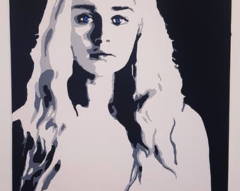 Game of Thrones, Daenerys targaryen, Original Painting, Pop Art Painting, Canvas Painting, Abstract Painting