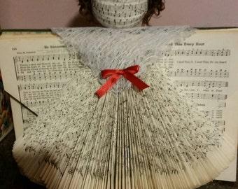Angel, hymnal, gift, piano, musician, customized, church, home, decor, caring, organ, hair,song book
