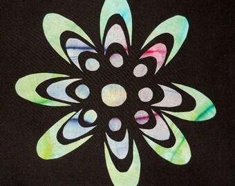 70's Flower Quilt Applique Pattern Design