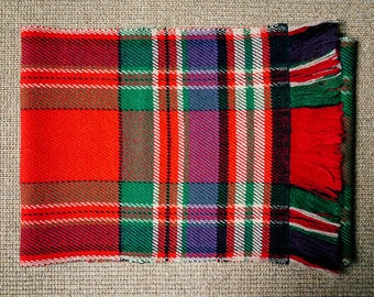 Scarf MacFarlane * hand woven wool and cashmere