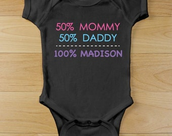 Personalized Baby Girl Infant Creeper [baby girl, infant, creeper, black, personalized, washable, cotton, bodysuit, baby shower] -gfy938160X