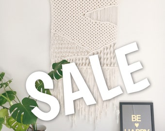 Landscape picture macrame wall hanging - hills