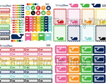 WHALE Planner Sticker Bundle for All Planner Types W001