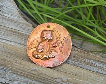 Cupid's Arrow - Handmade Copper Pendant