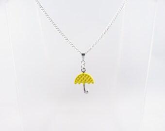 Yellow Umbrella Necklace
