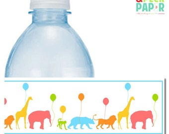 Animal Parade Water Bottle Labels