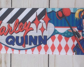 3 inch Harley Quinn INSPIRED Ribbon