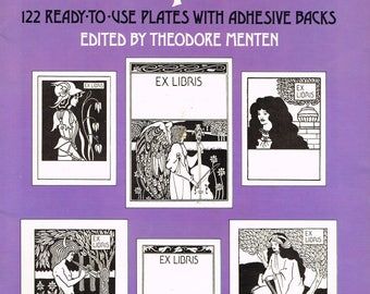 VINTAGE 1976 New 122 Ready-To-Use AUBREY BEARDSLEY Bookplates with Adhesive Backs Edited by Theodore Menten
