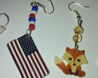 Kawaii Fox Earrings or Necklace