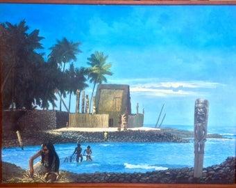 Pu'uhonua o Hōnaunau-  A Place of Refuge, Sacred Hawaii, Fine Art, Hawaii Art, Hawaiian Culture