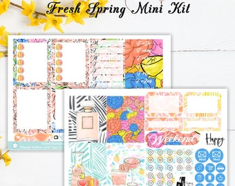 Fresh Spring Mini Kit | Planner Stickers | ECLP