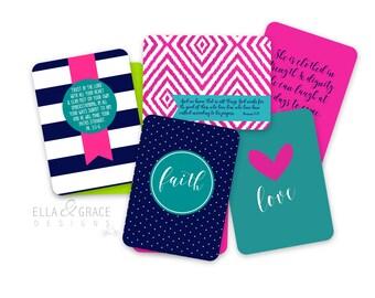 Mini Scripture Cards.  Set of 10 Encouragement Cards.