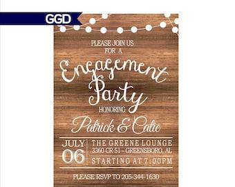 rustic engagement party invitations Josemulinohouseco