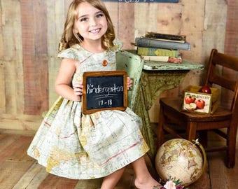 girls world tour dress toddler back to school dress world map print dress