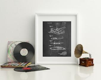 XP-58 Chain Lightning Poster, World War 2 Poster, Aviation Gift, Airplane Decor, PP0069 Z1016