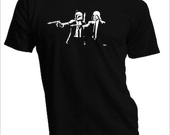 Darth Vader Boba Fett Star Wars Pulp Fiction Parody tee