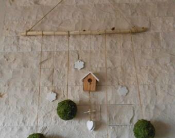 Moss Ball  Wall Hanging, Natural Materials  Wall Hanging, Wall Art, Natural Wall Art