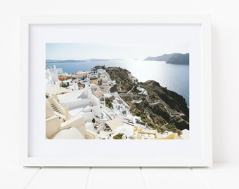 Cliffs of Santorini Unframed Photo Print