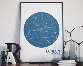 London, Ontario City Map Print