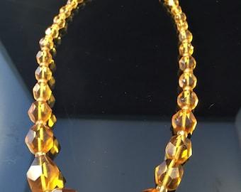 Gorgeous Czech Glass Bead Necklace VTG
