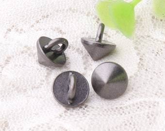 subuliform buttons 9*10mm 10pcs tiny metal zinc alloy button shank buttons light black buttons baby clothing buttons