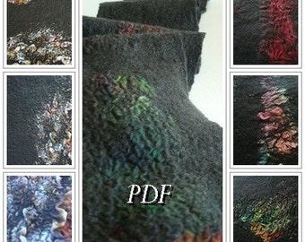 PDF Tutorial Felted wool scarf using Nuno felting technique in English