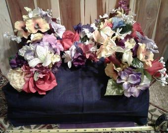 Set of 5 Mini Squares Colorful Silk Flower Arrangements - Group No. 1