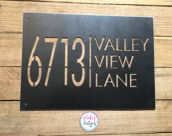 Metal House Number Sign   Home Address Sign   Address Sign   Address Number Sign   Metal Address Sign   Metal Address Numbers   A6