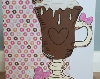 Handmade Hot Chocolate card
