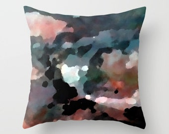 "Throw Pillow Cover Accent Pillow Cover BLue Black Pink Grey White  Cushion Cover Home Decor 16"" 18"" 20"" Decorative Pillow Cover"