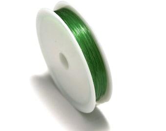 1 spool of thread, elastic, emerald green (5 m x 0, 8 mm)