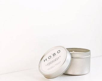 Travel Soy Candle LEMONGRASS & COCONUT - Natural/Soy Wax Candle/Eco -friendly Gift/Gifts for home/Candle Lover Gift/Hygge/Gifts for her