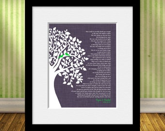 """Wedding Day Parent's Poem, Gift for Parent's, Parent's Thank You Poem, Thank You Poem, Parent's Gift, """"How Can We Thank You Enough"""""""