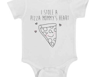 Pizza baby t-shirt, pizza onesie, onesie, baby onsie, funny onsie, baby clothes, baby, newborn, newborn onsie, toddler t-shirt