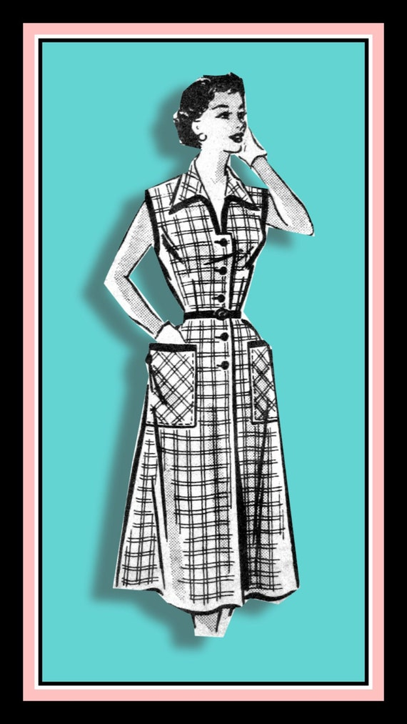 Vintage 1950er Jahre-ROCKABILLY Honig-Shirt Kleid nähen